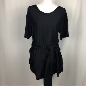 Juicy Couture Belted Black Tunic with Pockets